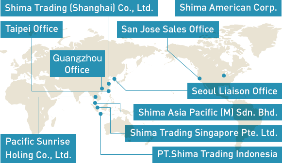 Domestic and Overseas Offices | Shima Trading Co , LTD